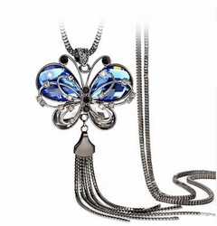 Women Costume Clothing Butterfly Style Accessories Long Necklace