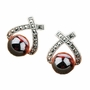 Women's Exotic Jewelry .925 Sterling Silver Earrings w/ Garnet Gemstone
