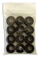 1 Dozen -Sewphisticated Bobbin Thread - Size L - Plastic Sided - Black