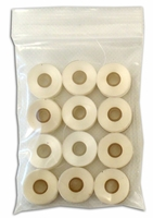 1 Dozen - Sewphisticated Bobbin Thread - Size L - Plastic Sided - White