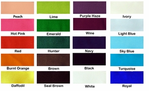 """7/8"""" Solid Color Grosgrain Ribbon - by the yard"""