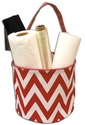 Chevron Bucket Tote - RED only