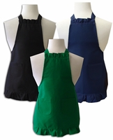 **Clearance Priced**- Child Size Ruffled Apron - Solid