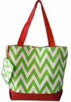 Clearance Priced - Holiday Chevron Tote Bag