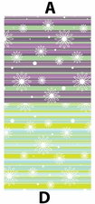 Clearance Priced - Small Fairy Flowers & Stripes - QuickStitch Embroidery Paper