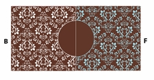 """Clearance Priced - Samantha Large Print w/ 3"""" Circle - QuickStitch Embroidery Paper"""