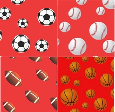 Clearance Priced - Sports - QuickStitch Embroidery Paper - Red