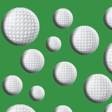 Clearance Priced - Golf - QuickStitch Embroidery Paper - Green