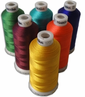 Madeira Poly Machine Embroidery 40wt Thread 1100 yd spool All 411 colors in numeric order.