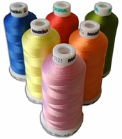 Madeira Rayon Machine Embroidery Thread 40wt 1100 yd  All 384 colors listed in numeric order.