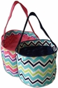 Multi Chevron Print Bucket Tote