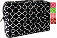 **Clearance Priced**-  Microfiber Quadrefoil Cosmetic Bags