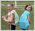 **Clearance Priced**- Patterned Cinch Sack / Gym Bags