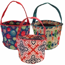 Patterned Bucket Totes - $6.25 each