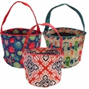 Patterned Bucket Totes