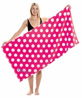 ***Closeout*** Polka Dot Print Beach Towel