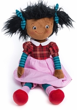 Cubbies Rag Doll - Black Hair - Marcella