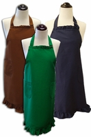 **Clearance Priced**- Ruffled Aprons - 100% cotton
