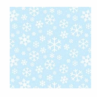 Snowflakes - QuickStitch Embroidery Paper - Blue/White