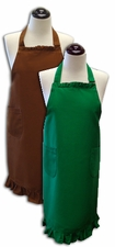 **Clearance Priced**- Solid Ruffled Aprons