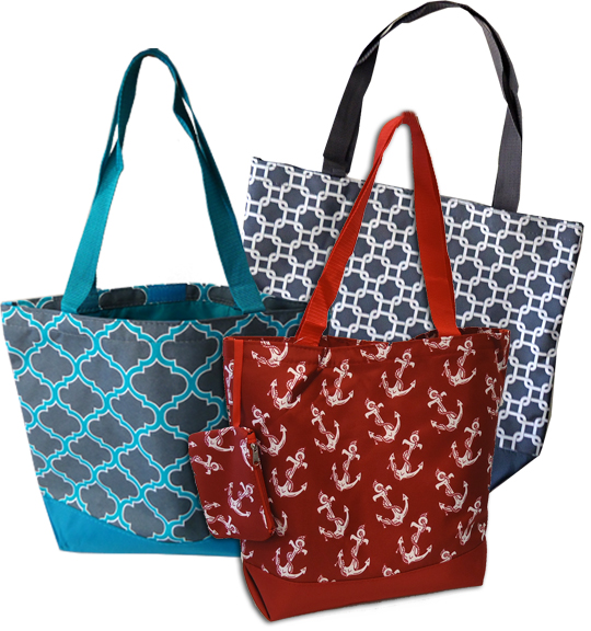 Clearance Priced** - Trendy Tote Bags - Various Patterns