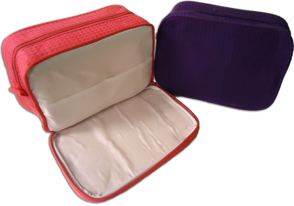249a174394 Waffle Weave Cosmetic Bags