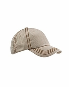 Contrast Thick Stitch Unstructured Cap