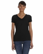 Ladies'  100% Heavy Cotton HD� V-Neck T-Shirt
