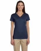 Ladies'  100% Organic Cotton Short-Sleeve V-Neck T-Shirt