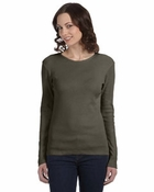 Ladies'  1x1 Baby Rib Long-Sleeve T-Shirt
