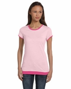 Ladies'  Claudette Sheer Jersey Longer-Length 2-in-1 T-Shirt
