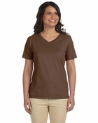 Ladies' Combed Ringspun V-Neck T-Shirt