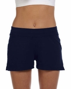Ladies'  Cotton/Spandex Fitness Shorts