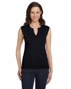 Ladies'  Cotton/Spandex Slit-V Raglan