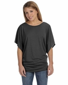 Ladies�   Flowy Draped Sleeve Dolman T-Shirt