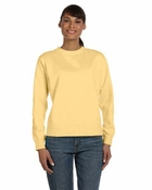Ladies'  Garment-Dyed Wide-Band Fleece Crew