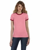 Ladies'  Heather Jersey Ringer
