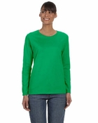 Ladies'  Heavy Cotton Missy Fit Long-Sleeve T-Shirt