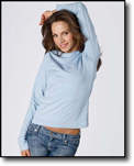 Ladies'  Long-Sleeve Crew Neck Jersey T-Shirt