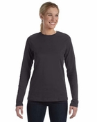 Ladies'  Missy Fit Long-Sleeve Crew Neck Jersey T-Shirt