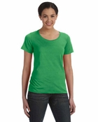 Ladies'  Sheer Scoop Neck T-Shirt