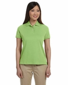 Ladies' Solid Perfect Pima Interlock Polo