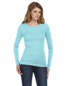 Ladies'  Sophie Sheer Rib Long-Sleeve T-Shirt