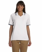 Ladies' Tipped Perfect Pima Interlock Polo