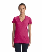 Ladies'  Tri-Blend Deep V-Neck
