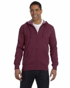 Unisex Organic/Recycled Heathered Full-Zip Hood
