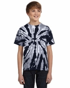 Youth  100% Cotton Tie-Dyed T-Shirt