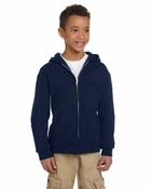 Youth   50/50 EcoSmart® Full-Zip Hood (old style CW25)