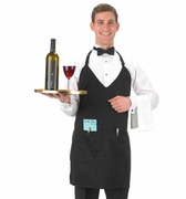 Black Tuxedo Apron V-Neck (formal)
