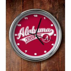 Alabama Crimson Tide Chrome Clock - BACKORDERED